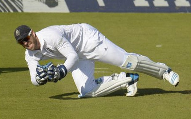 England v Sri Lanka: Matt Prior insists controversial catch should have  been out