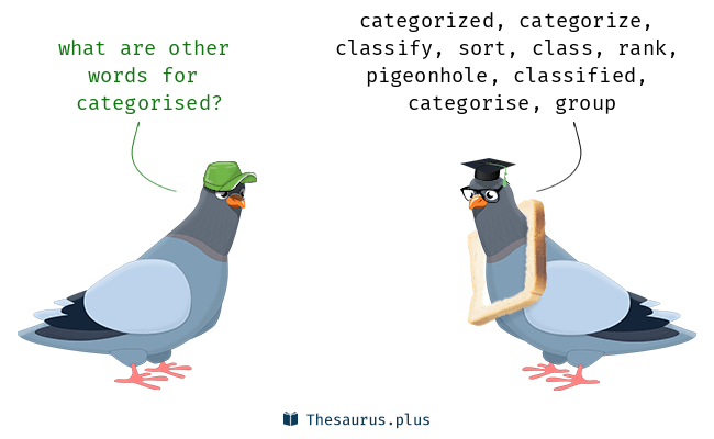 Synonyms for categorised