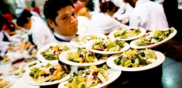 wedding caterer servers