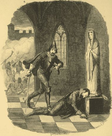 Anonymous drawing of the death of Robert Catesby, Wikimedea Commons