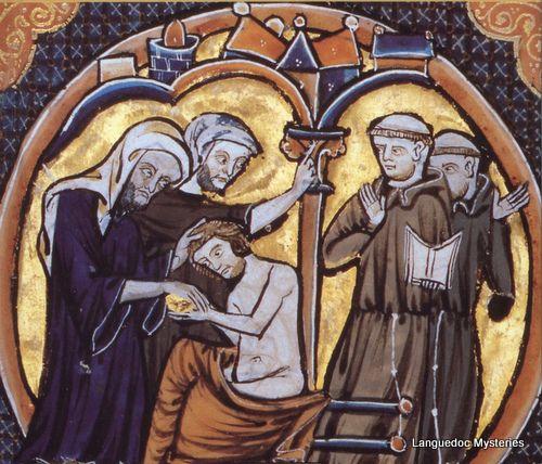 A Medieval representation of a Cathar Baptism