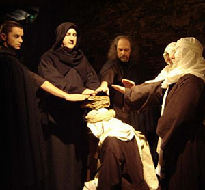 A modern recreation of the Cathar Ceremony of the Consolamentum