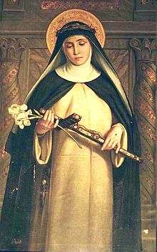 St. Catherine of Siena is a saint, mystic, and doctor of the Church