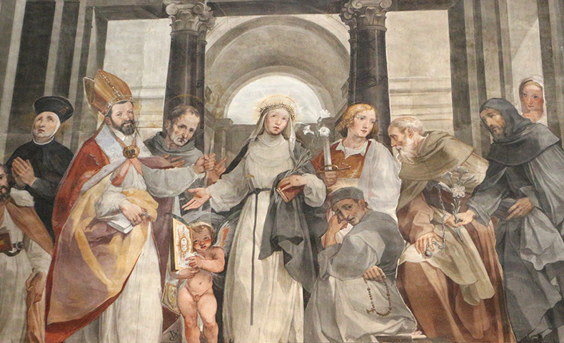 Painting of Saint Catherine of Siena | Siena Cathedral Choir | photo by  Sailko