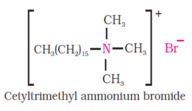 (ii) Anionic detergents: Anionic detergents are sodium salts of sulphonated  long chain alcohols or hydrocarbon. The long chain alcohols are treated  with