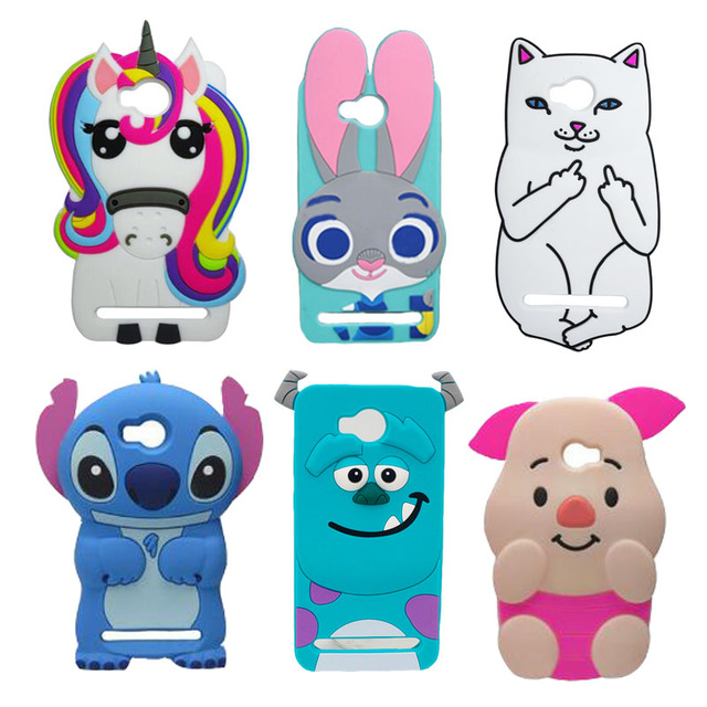 For Huawei Y3 II 2 Hot 3D Silicon Unicorn Cat Stitch Bunny Rabbit Cartoon  Soft Phone