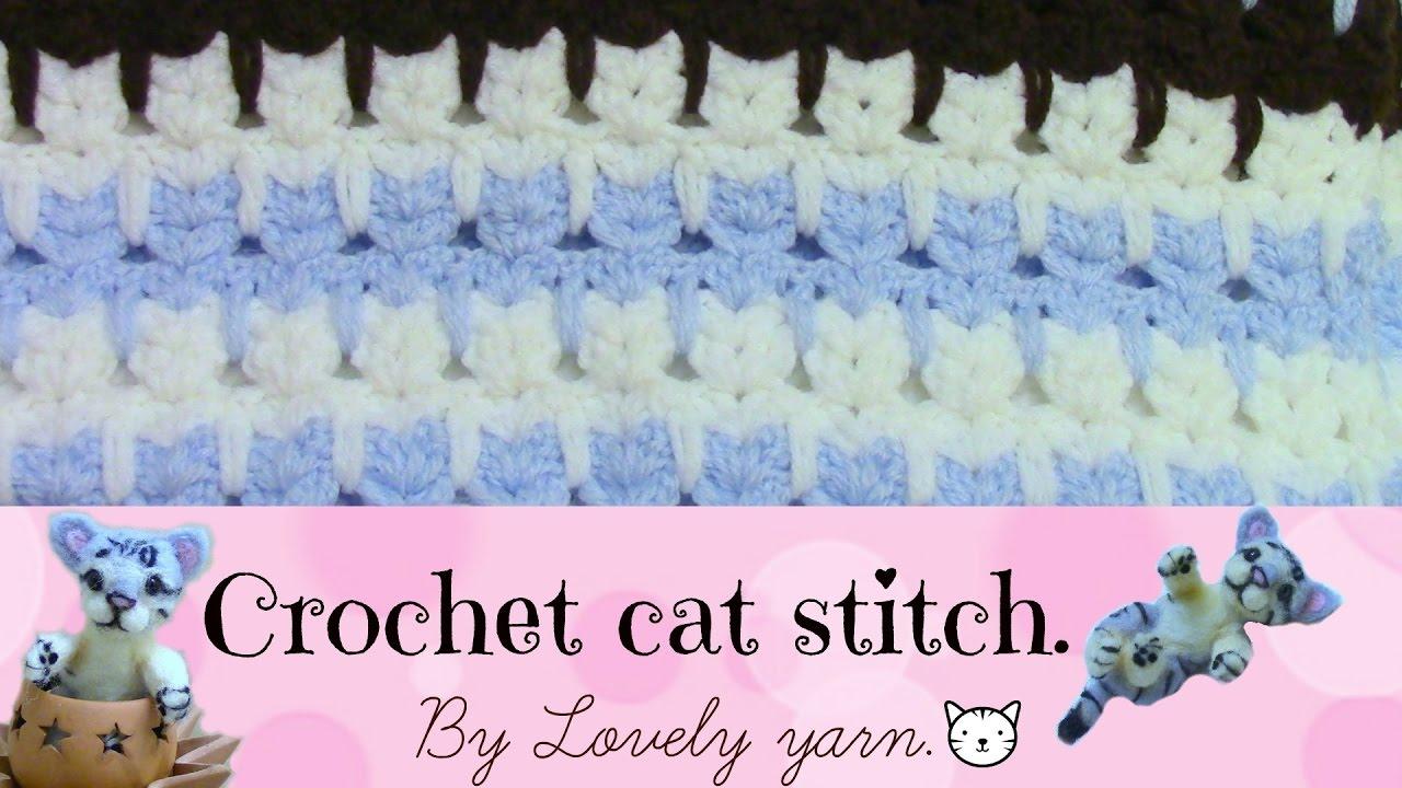 Crochet cat stitch