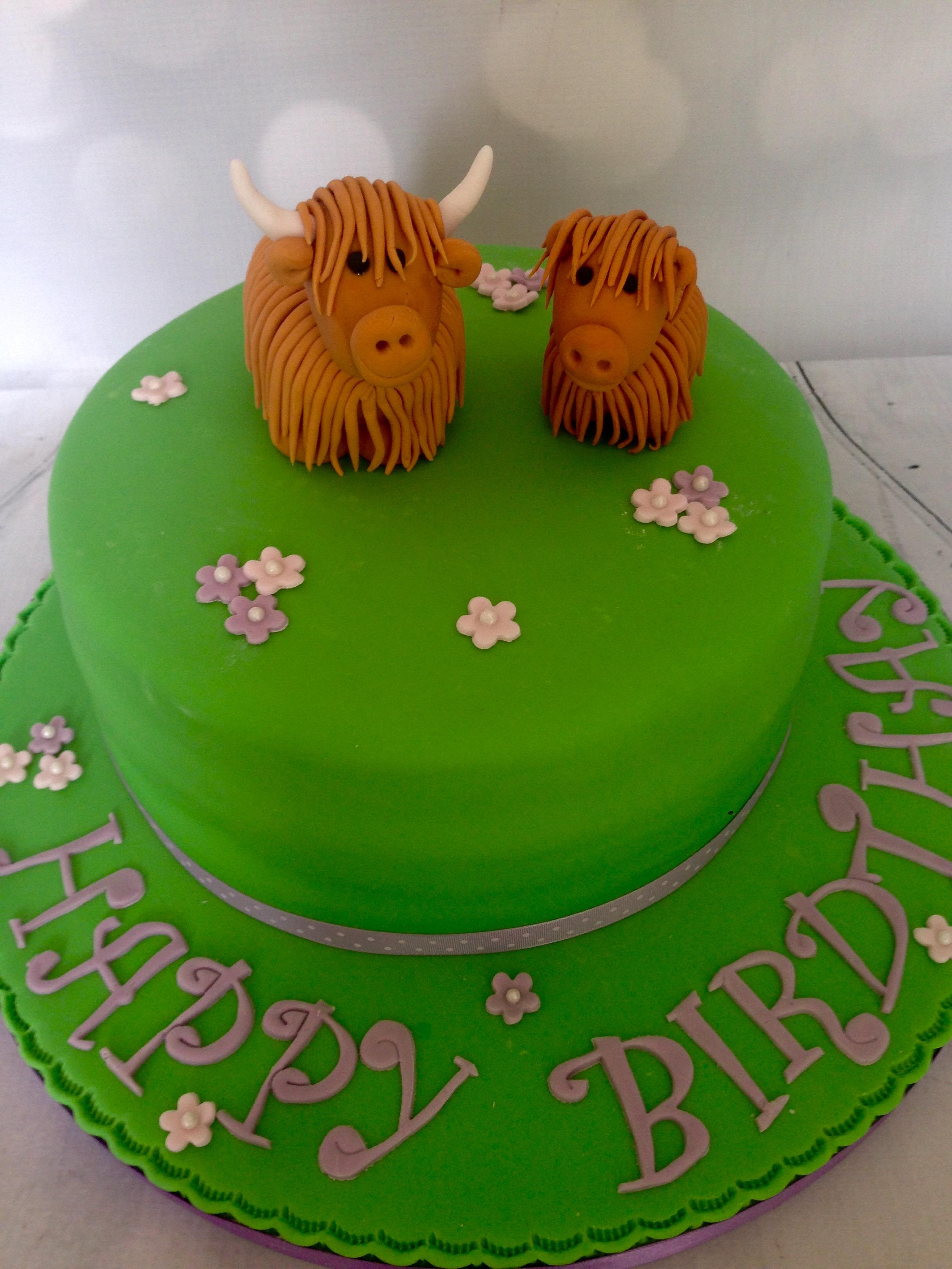 Highland Cattle Cake