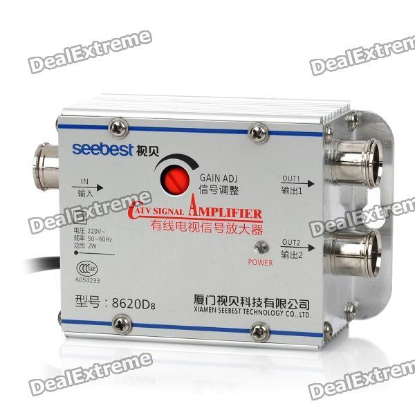 Amplificador de señal CATV - plateado (220V)