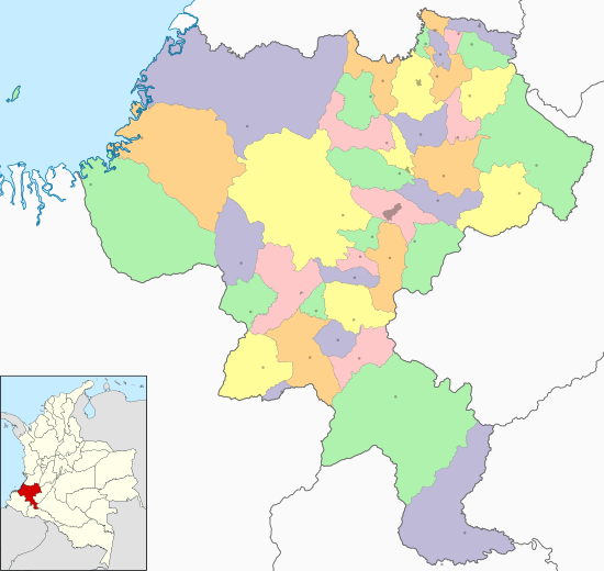 Colombia Cauca location map (adm colored).svg