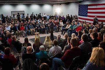 Republican Presidential Candidate Marco Rubio speaks at Marshalltown  Community College in Marshalltown, Iowa, Jan