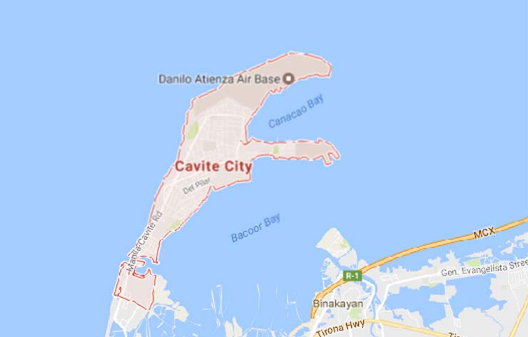 Cavite City, Cavite Map (Photo courteys of Google Map)