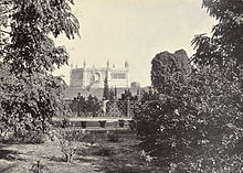 The Bibighar Well site where a memorial had been built by 1859. Samuel  Bourne, 1860.