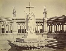 A memorial erected (circa 1860) by the British at the Bibi Ghar well after  the Mutiny was crushed. It was the work of Carlo Marochetti.