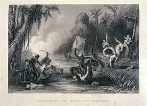 Massacre in the boats off Cawnpore - The history of the Indian Mutiny (1858-