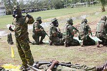 Brazilian Marine Corps training for CBRN defense.