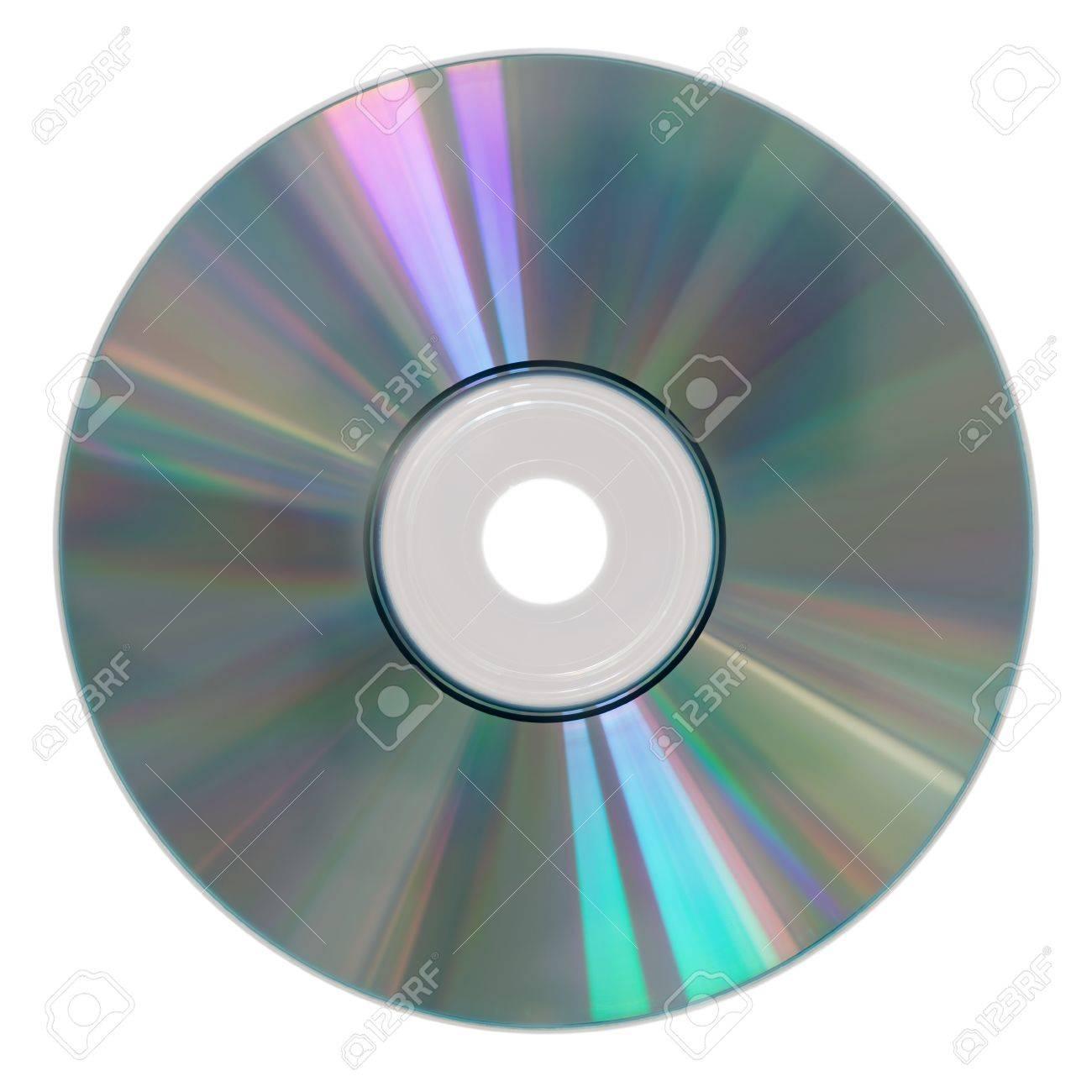 Foto de archivo - La fotografía de un cd rom aislado