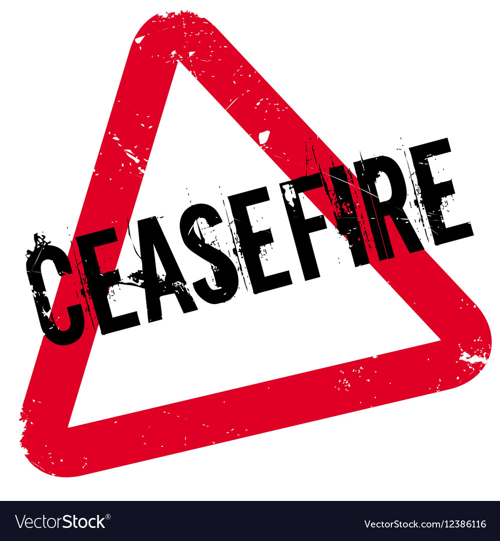 Ceasefire rubber stamp vector image