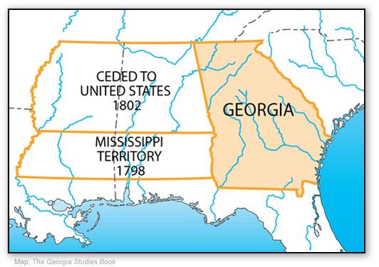 Georgia Ceded Western Territories