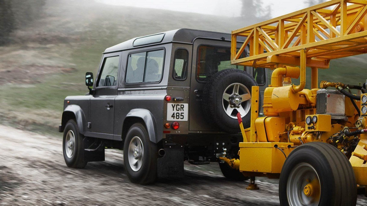 The Defender carrying loads and driving on ice.