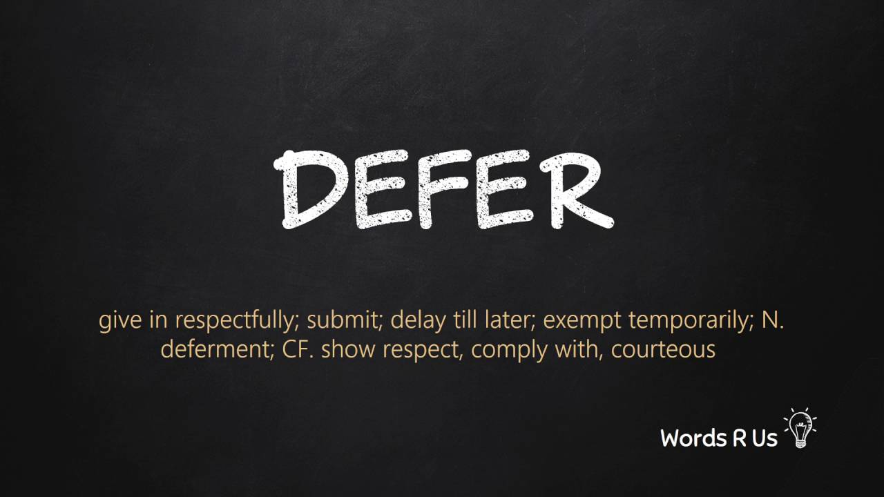 How to Pronounce DEFER in American English