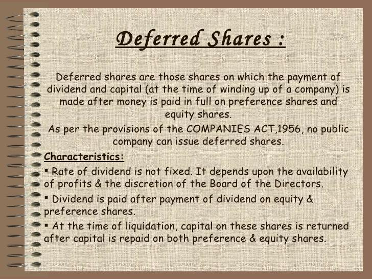 Deferred Shares