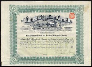 Image is loading United-Egyptian-Lands-Ltd-1-deferred-share-1907