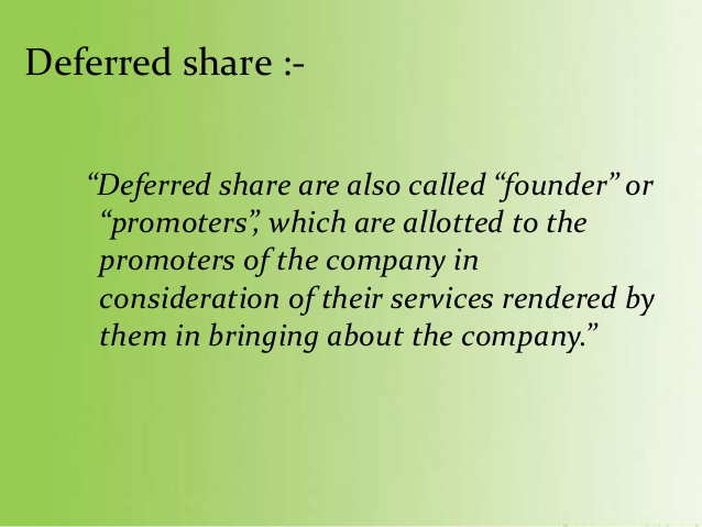 Deferred share