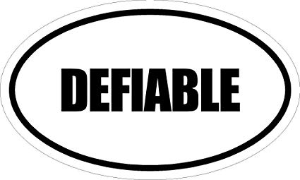 """Any and All Graphics DEFIABLE 6"""" Magnet of Oval Euro Style Design"""