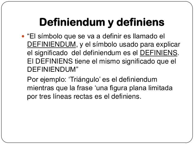Definiendum