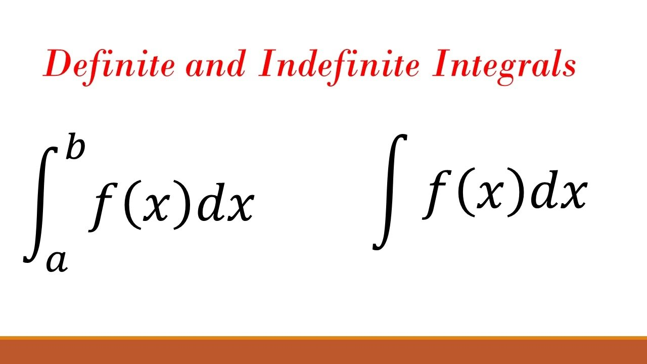 What is the difference between a definite and indefinite integral? (Part 2)