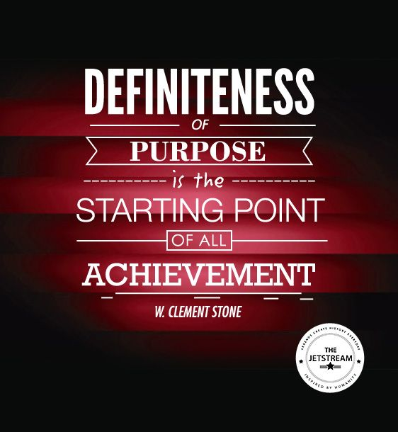 Definiteness of purpose is the starting point of all achievement. W Clement  Stone | Julian Pencilliah Inspire