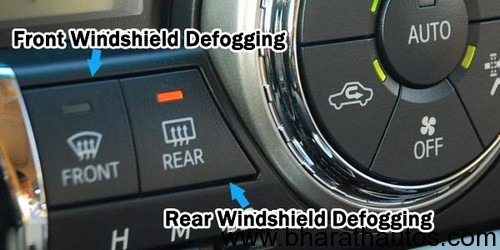 Defoging with air condition
