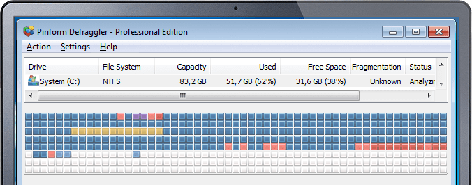 Speed up your PC with quick & easy defragmentation.