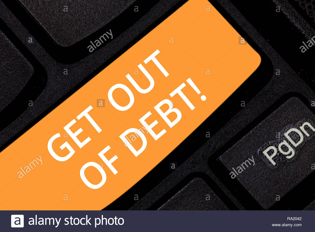 Escribir nota mostrando salir de deudas. Foto de negocios mostrando ninguna  perspectiva de ser pagado