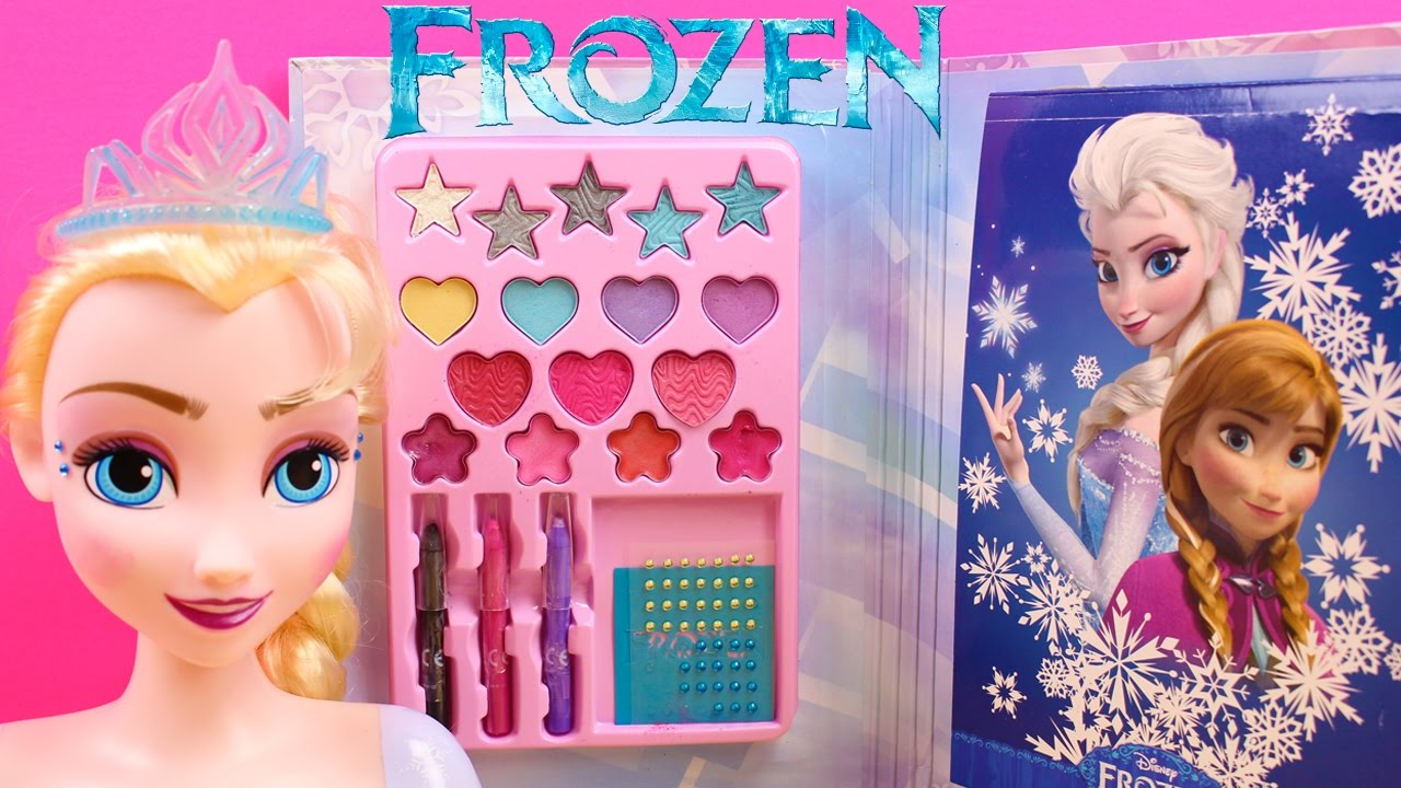 Juguetes de Frozen en español | Manicura Maquillaje y Peinados Muñeca Elsa  Frozen - YouTube