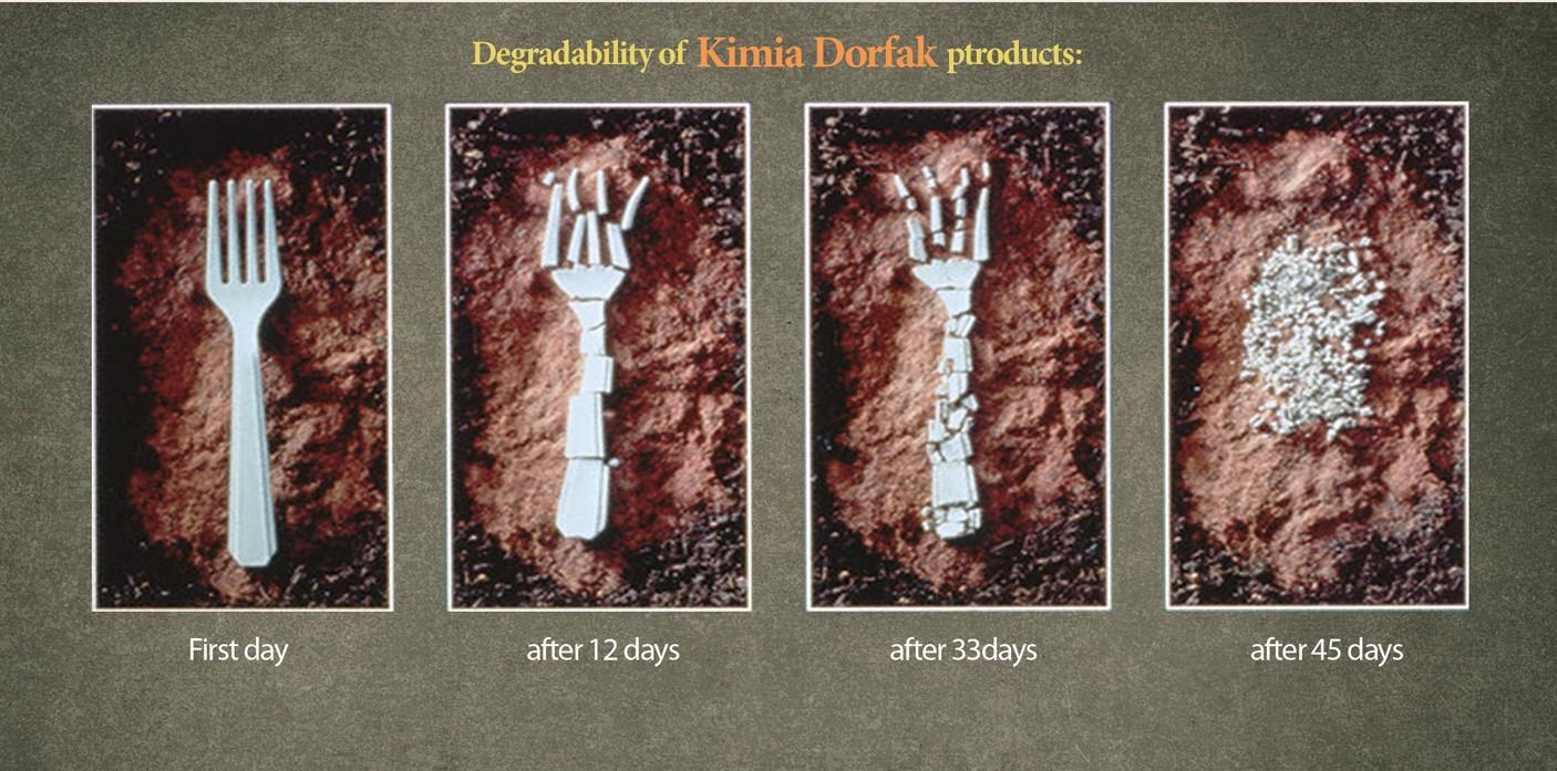 Degradability of Kimia Dorfak products in nature