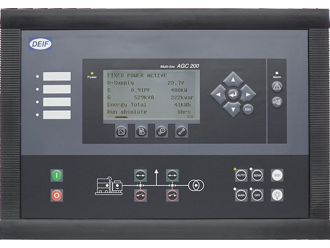 Controlador Avanzado de Grupo(s) Electrógeno(s) AGC 200
