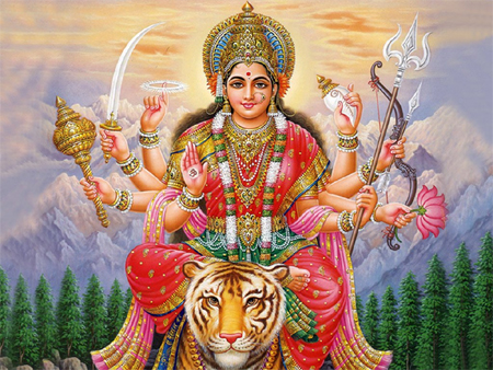 For example, deities like Kali, Durga and Lakshmi, are all shown with a  multitude of arms to represent their multiple abilities, super-human  powers,