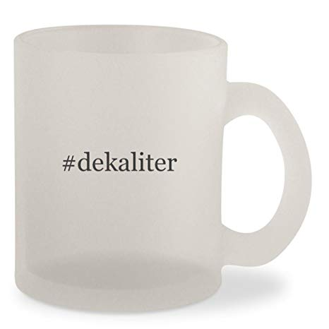 #dekaliter - Hashtag Frosted 10oz Glass Coffee Cup Mug