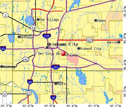 Del City, OK map