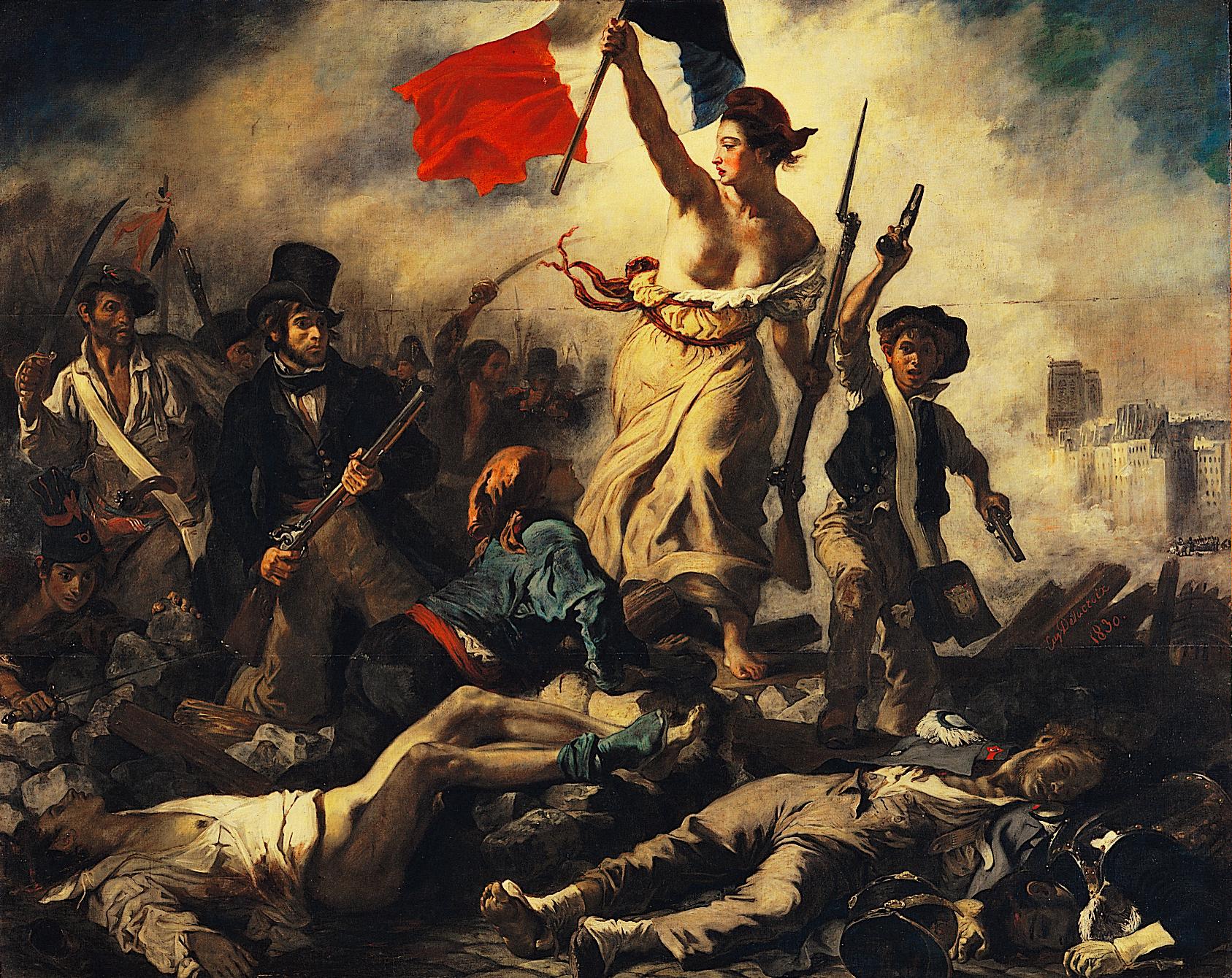 Archivo:Eugène Delacroix - La liberté guidant le peuple-2.jpg