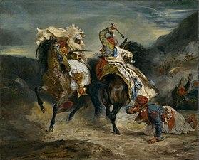 El combate de Giaour y Hassan, 1826, Instituto de Arte de Chicago.