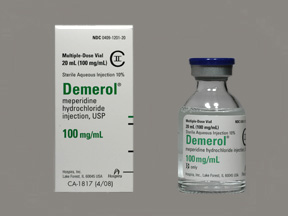 Demerol 100 mg/mL injection solution