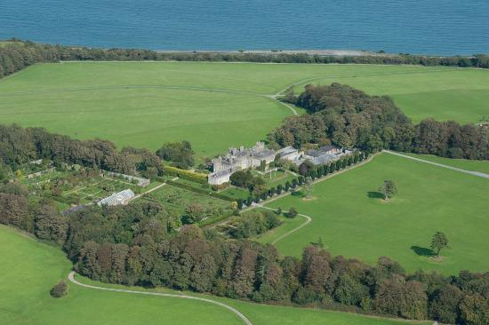 Ardgillan Castle: View of the Demesne with the Irish Sea in the background