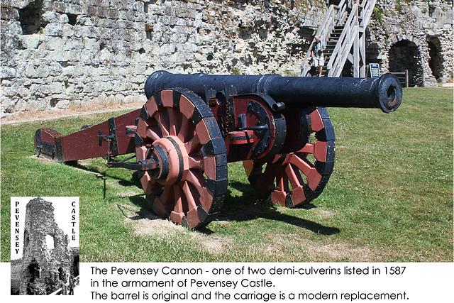 Pevensey Castle Demi Culverin c 1587 - 24.7.2013