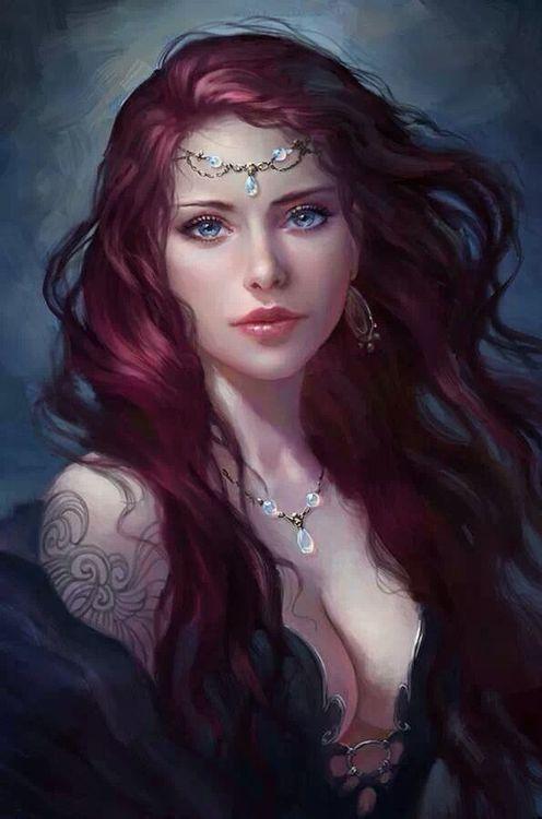 Leahnar, demigoddess of Terramere, lover of Sinn the Bard.