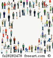 Demographically Art Print - People Diversity