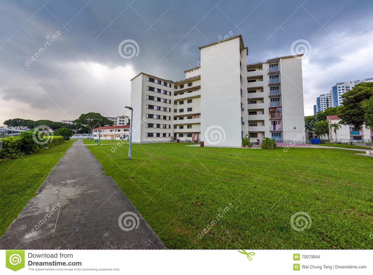 Old public housing in Singapore before demolishment