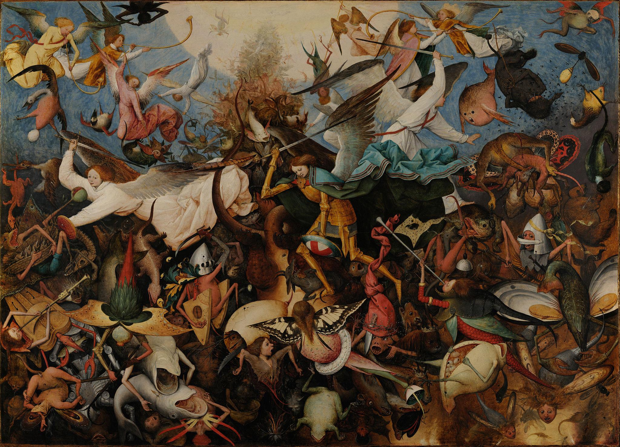 Demonology. The Fall of the Rebel Angels. 1562. Pieter Brueghel the Elder  (1526/
